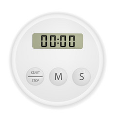electronic timer mockup realistic style vector image