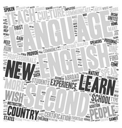 English as a second language text background vector