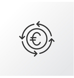 euro exchange icon symbol premium quality vector image
