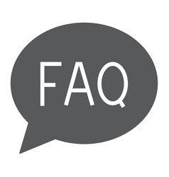 faq glyph icon speech and bubble button sign vector image