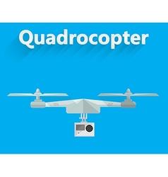 Flat of quadrocopter vector
