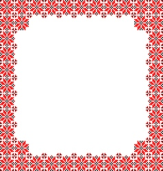 Frame black red patterns on canvas vector