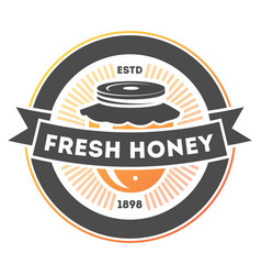 Fresh honey vintage isolated label vector