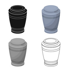 funeral urns icon in cartoon style isolated on vector image