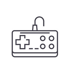 gamepad line icon sign on vector image