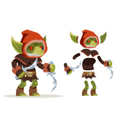 Goblin assassin outlaw thief burglar evil minion vector
