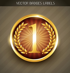 golden label tag vector image