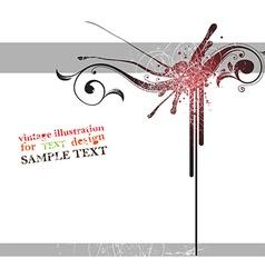 Grunge Autumn Floral Design vector