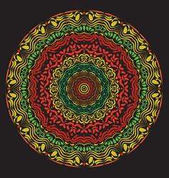 hand drawn mandala art vector image