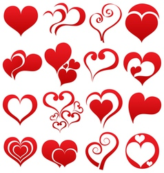Heart symbol set vector image