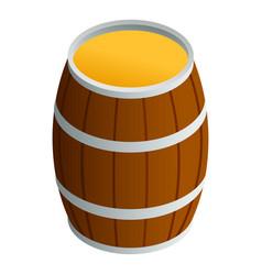 Honey wood barrel icon isometric style vector