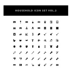 Household appliances icons set vol 2 with glyph vector