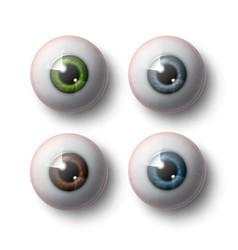 Human eye balls vector