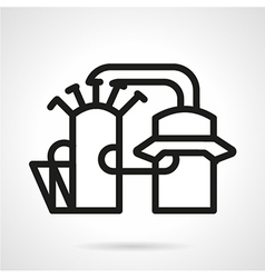 Industrial architecture icon line style vector