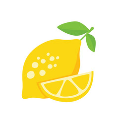 Lemon on white background vector