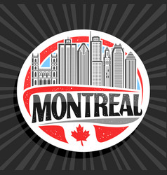 logo for montreal vector image