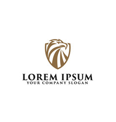 luxury eagle logo design concept template vector image