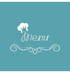 Menu cover design with chef hat in shape of crown vector