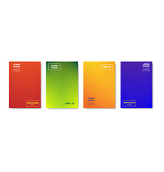 Minimalistic abstract covers design colorful vector