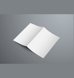 mockup open bifold brochure for presentation vector image