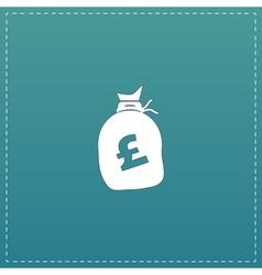 Money bag icon Pound GBP vector