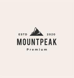 Mount peak hipster vintage logo icon vector