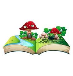 Mushroom popup book vector image