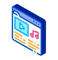 Music folder with songs isometric icon vector