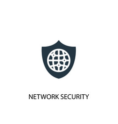 network security icon simple element vector image