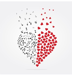 note heart vector image