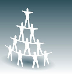 Paper People Pyramid vector image