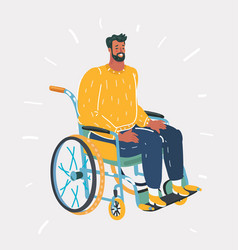 people with wheelchairs vector image