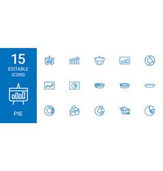 pie icons vector image