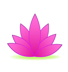 pink lotus flower logo design vector image