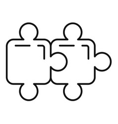 Quest puzzle icon outline style vector
