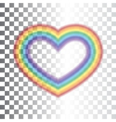 Rainbow icon heart transparent vector