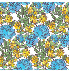 realistic floral seamless pattern background with vector image