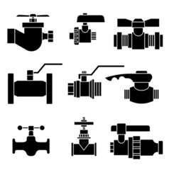 Set of faucet vector image