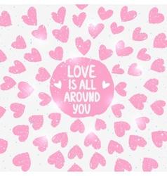 shine love vector image