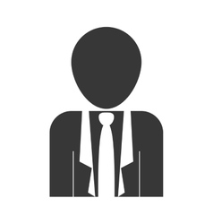 silhouette of businessman icon vector image