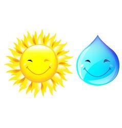 Smiling drop water vector