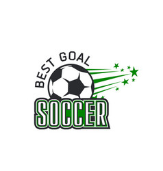 soccer team football ball goal icon vector image