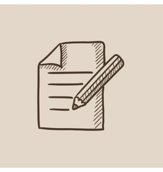 Taking note sketch icon vector image