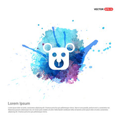 Teddy bear icon - watercolor background vector