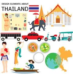 Thailand elements vector
