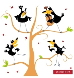 Toucan on a tree vector image