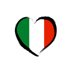 travel italian love heart grunge icon love italy vector image