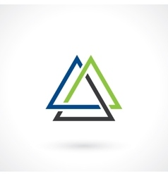 triangular shape vector image