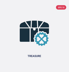 two color treasure icon from success concept vector image