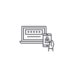 Two factor authentication line icon sign vector